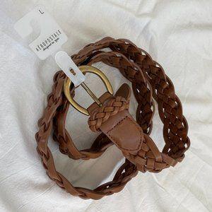 NWT Aeropostale faux leather braided belt